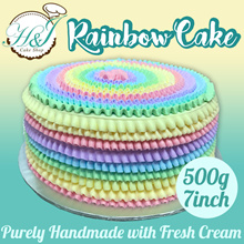 [H and J Cake Shop] - Premium Cream Rainbow cake. Introductory Promotion. Store pickup at 3 location