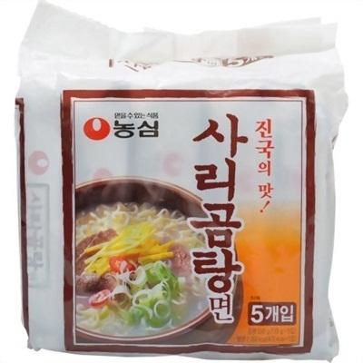 【韓国食品・韓国ラーメン】 ■韓国のサリコムタン5個セットラーメン(辛さ0)■の画像