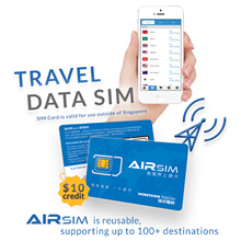 AIRSIM 3-in-1 Sim Card - Value: $10 4G/3G Fly Anywhere Enjoy Anytime!