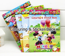~Children Cute Cartoons Character Sticker Colouring Book / Baby Party Gift Goodie Bag Kids Boy Girl