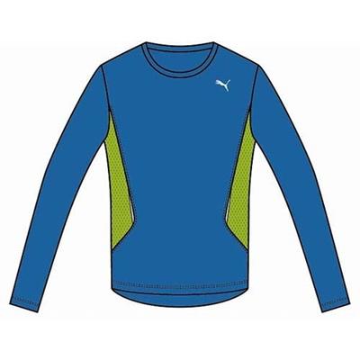プーマ(PUMA) LS TEE 903926 02 メチル ブルー 【メンズ トレーニングウェア ランニング 長袖 Tシャツ】の画像