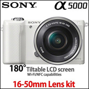 [Only for 1DAY!] SONY a5000 Mirrorless Camera with 1650mm lens / •Wi-Fi® connectivity to smartphones via NFC