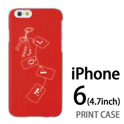 iPhone6 (4.7インチ) 用『0828 Loveタグ ピンク』特殊印刷ケース【 iphone6 iphone アイフォン アイフォン6 au docomo softbank Apple ケース プリント カバー スマホケース スマホカバー 】の画像