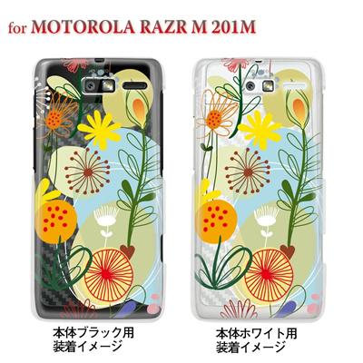 【MOTOROLA RAZR ケース】【201M】【Soft Bank】【カバー】【スマホケース】【クリアケース】【フラワー】【Vuodenaika】 21-201m-ne0037caの画像