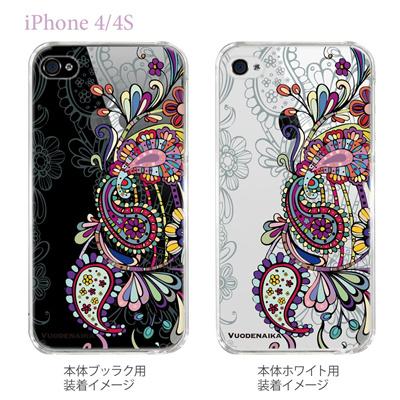 【Vuodenaika】【iPhone4/4Sケース】【カバー】【スマホケース】【クリアケース】【フラワー】 21-ip4-ne0030ca 【10P01Sep13】の画像