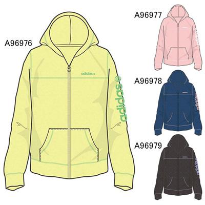 アディダス (adidas) レディース SC T/Cジップパーカー W KBW47 [分類:レディースファッション ジップアップパーカー]の画像