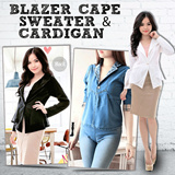MUST HAVE ITEM!! LIMITED STOCK!! BLAZER CAPE SWEATER and CARDIGAN!! Bahan Bagus Harga Murah!! Only at Beryl Diva