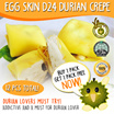(VP Ducafe)Buy 1 pack and get 1 pack FREE now! Total 12 pcs Egg Skin D24 Durian Crepe - 32g each