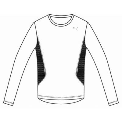 プーマ(PUMA) LS TEE 903926 03 ホワイト 【メンズ トレーニングウェア ランニング 長袖 Tシャツ】の画像
