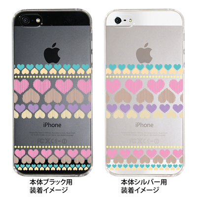 【iPhone5S】【iPhone5】【Clear Fashion】【iPhone5ケース】【カバー】【スマホケース】【クリアケース】【ハート】 09-ip5-he0001の画像