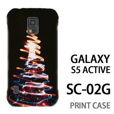 GALAXY S5 Active SC-02G 用『1223 ネオンツリーライトアップ ゴールド』特殊印刷ケース【 galaxy s5 active SC-02G sc02g SC02G galaxys5 ギャラクシー ギャラクシーs5 アクティブ docomo ケース プリント カバー スマホケース スマホカバー】の画像