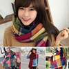 New Korean Chiffon Winter Scarves Scarf Bowknot Caps Candy-colored knit hat Hair Band Cuit Knitted