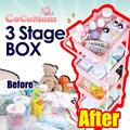★Coco Mom Basket★storage box/Three-stage box/5color/Simple/Clean/Versatile ring/Steel pipe columns/Wheel/storage box/gobiz-019/b2c_012