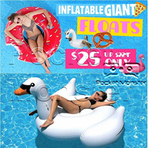 Inflatable Giant Float/Swan/ Flamingo/PIZZA/Donuts/Unicorn suitable for pool parties sea/ Swimming/Electric Pump* Summer Party*Cool Swimming Accessories*