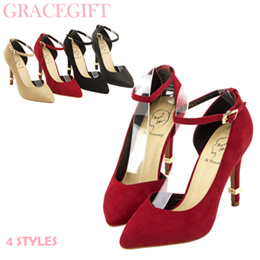 ♥New Arrival♥Gracegift-Crossover Angel Style Strap D Orsay Heels/Women Shoes