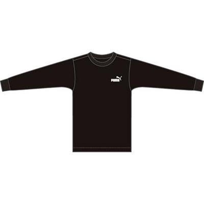 ◆即納◆プーマ(PUMA) LS TEE(パッケージ入り) 814065 07 ブラック 【ジュニア キッズ トレーニングウェア 長袖 Tシャツ】の画像