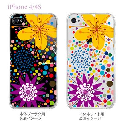 【Vuodenaika】【iPhone4/4Sケース】【カバー】【スマホケース】【クリアケース】【フラワー】 21-ip4-ne0032caの画像