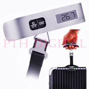 Hostweigh Premium Smart Portable Electronic LCD Digital Lights Display Baggage Travel Hanging Scale Termometer 50Kg Weight Capacity