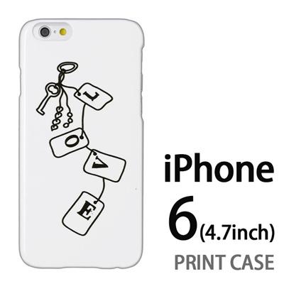 iPhone6 (4.7インチ) 用『0828 Loveタグ 白』特殊印刷ケース【 iphone6 iphone アイフォン アイフォン6 au docomo softbank Apple ケース プリント カバー スマホケース スマホカバー 】の画像