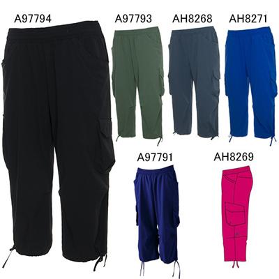 アディダス (adidas) レディース Fitness カーゴカプリパンツ KBZ83 [分類:スウエットパンツ・カーゴパンツ (レディース)]の画像