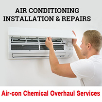 Air-con Chemical Overhaul Services- FULLY Dismantled With 3 Month Warranty