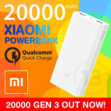 OVER 23000 REVIEWS ★ 100% Authentic Xiaomi Powerbank Portable Battery Charger QC3.0 Quick Charge
