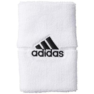 アディダス(adidas) ワイドリストバンド ホワイト/ブラック DDX36 F93202 【スポーツアクセサリー ウェア バンド メンズ レディース】の画像