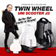 【2015 BREAKING PRICE】DOUBLE/TWIN WHEEL Premium Self-Balancing UNI J3 super wheel   Better than scooter and bicyle - Airwheel AVAILABLE IN BLACK!