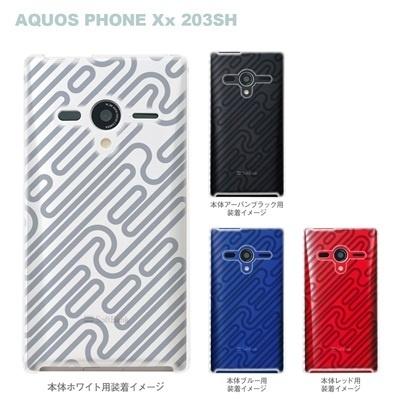 【AQUOS PHONEケース】【203SH】【Soft Bank】【カバー】【スマホケース】【クリアケース】【トランスペアレンツ】【パイプ】 06-203sh-ca0021sの画像