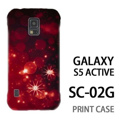 GALAXY S5 Active SC-02G 用『1223 雪ネオン 赤』特殊印刷ケース【 galaxy s5 active SC-02G sc02g SC02G galaxys5 ギャラクシー ギャラクシーs5 アクティブ docomo ケース プリント カバー スマホケース スマホカバー】の画像