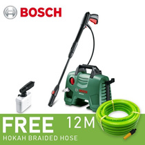 Bosch EasyAquatak 110 (AQT 33-11) High Pressure Cleaner 1300W + FREE 12M Braided Garden Hose