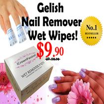 [200pcs] Gelish Soak-Off Remover Wet pads wipes (Promo $7.90) ★ For Gelish Gel UV LED Nail Polish ★