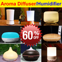 [CNY 60% OFF] ★100ml/150ml/200ml/300ml/500ml★ 2017 Ultrasonic Aroma Diffuser |Humidifier |Air Purifier  |Nebulizer ★Multi-Color LED Light/ Auto Off/Relaxation/Super Quiet ★Warranty ★Best Price★