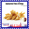 British Battered Fish And Fries Regular Fish and Small Fries with 1 Dip at $5.50