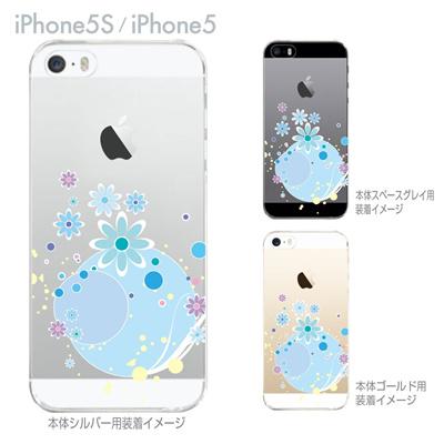 【iPhone5S】【iPhone5】【Clear Arts】【iPhone5ケース】【カバー】【スマホケース】【クリアケース】【ウォーターフラワー】 ip5-09-flo0007の画像