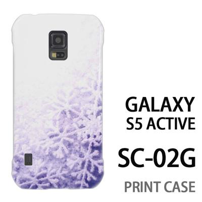 GALAXY S5 Active SC-02G 用『1223 雪の結晶 水』特殊印刷ケース【 galaxy s5 active SC-02G sc02g SC02G galaxys5 ギャラクシー ギャラクシーs5 アクティブ docomo ケース プリント カバー スマホケース スマホカバー】の画像