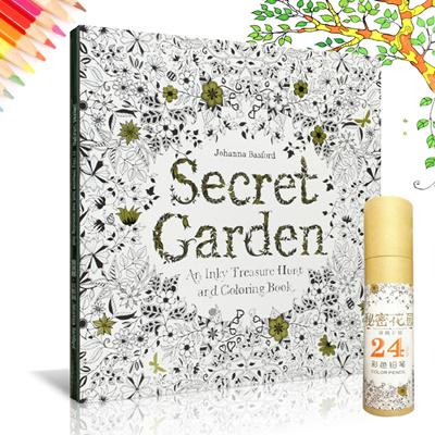 Buy Secret Garden Colouring Book An Inky Treasure Hunt And Coloring BookEnglishKorean