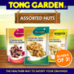 [ BUNDLE OF 3 ] Tong Garden Assorted Nuts - Available in 3 Flavours