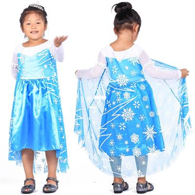 FJKコスチュームアナと雪の女王FrozenエルサElsaFJK-014キッズ女の子コスプレ衣装子供用プリンセスドレス