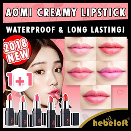 1+1 NEW IN! [AOMI] 💋 Waterproof and Long lasting Creamy Lipstick from Korea! 💄