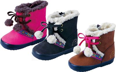 【OshKosh】 オシュコシュ OSK WB098 ベビーブーツ ウィンター ボア付きブーツ 子供靴 子供ブーツ キッズ 女の子 防寒 撥水加工 ムートン風(A倉庫)の画像