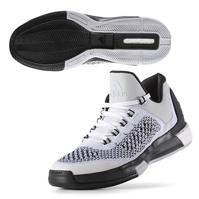 アディダス (adidas) crazylight boost 2 Low primeknit(ランニングホワイト×ランニングホワイト×クリアグレー) D69705 [分類:バスケットボール バスケットシューズ] 送料無料の画像