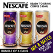 ★ Nescafe Ready to Drink Coffee 240ml ★ Bundle of 6 cans ★ Mix and Match your Favourite Flavor !! ★