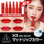 [3CE/3CONCEPT EYES] New RED RECIPE入荷! LILY MAYMAC / MOOD RECIPE / 韓国コスメ 3CEの LIP シリーズ