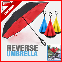 Reverse Umbrella★Car Umbrella★ C-handle★ Double layer★ Inverted umbrella★Print company Logo