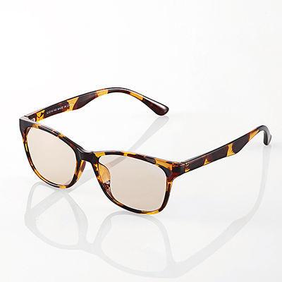 エレコムブルーライトカット眼鏡/ブラウンレンズ/ウェリントン/鼈甲G-BUB-W01TT