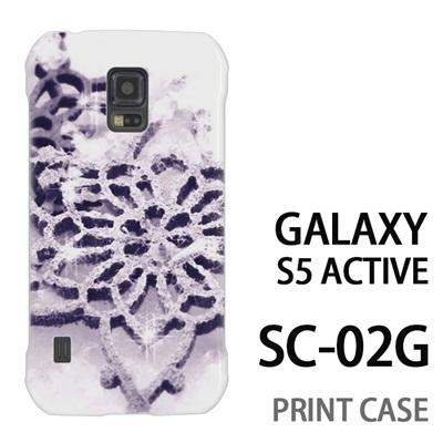 GALAXY S5 Active SC-02G 用『1223 雪の結晶の文鎮 白』特殊印刷ケース【 galaxy s5 active SC-02G sc02g SC02G galaxys5 ギャラクシー ギャラクシーs5 アクティブ docomo ケース プリント カバー スマホケース スマホカバー】の画像