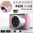 [Samsung]NX Mini Smart Camera 9-27mm kit *1 Year Samsung Singapore Warranty* FREE UPGRADE: 1 X 16GB MICRO SD + Extra Battery +  and CASE ◆Monopod+Powerbank at $5.90 ◆
