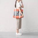 ★Korean Style★ FREEWILL Canvas Shopper Bag/Shoulder Bag/Made in Korea/Street Brand/2 Colours/Casual Shoulder Bag/Student Bag/Travel Bags