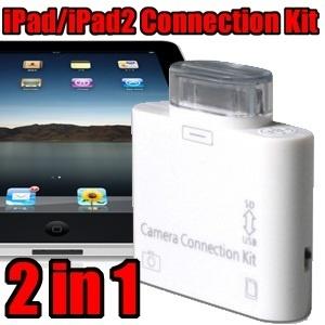 【クリックで詳細表示】【送料無料】デジカメの写真を手軽にiPad/iPad2/新しいiPad(第3世代)に取り込もう!iPad/iPad2用 2in1SD(SDHC)/USB コネクションキット(SD/SDHC/カードリーダー/USBキーボード/デジタルカメラ) 【Connection Kit(ICH-02WC) 】即納可能です!!全ての商品が【送料無料】の素敵なお店!謹賀新年タイムセール開催中!